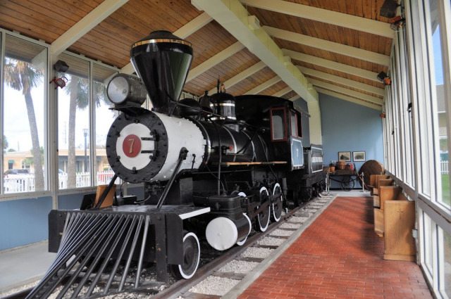 Steam train at Beaches Museum & History Park.