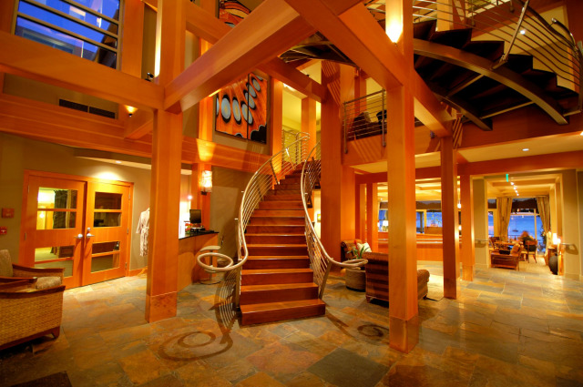 The staircase at The Chrysalis Inn & Spa.