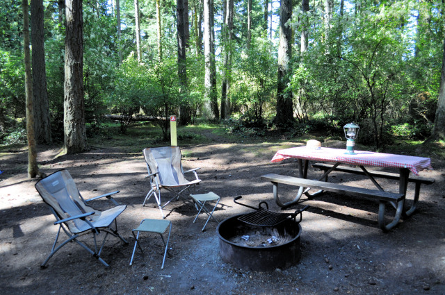 The campground at Washington Park in Anacortes.