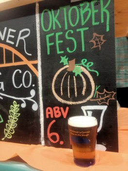 La Conner Brewing Oktoberfest beer.