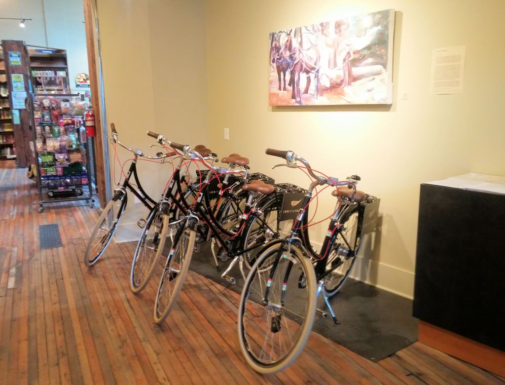 Complimentary bikes at the Inn at Lynden in Lynden, Washington.