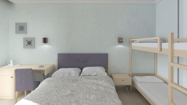 Renovated rooms at the Philoxenia Hotel in Halkidiki Greece.
