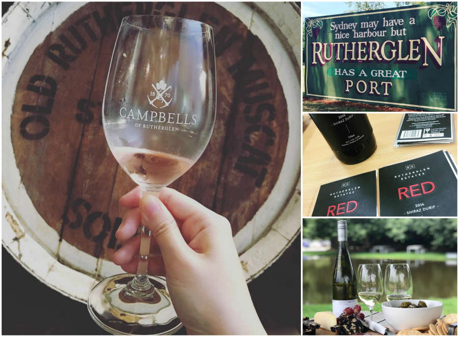 Australian wineries in Rutherglen.