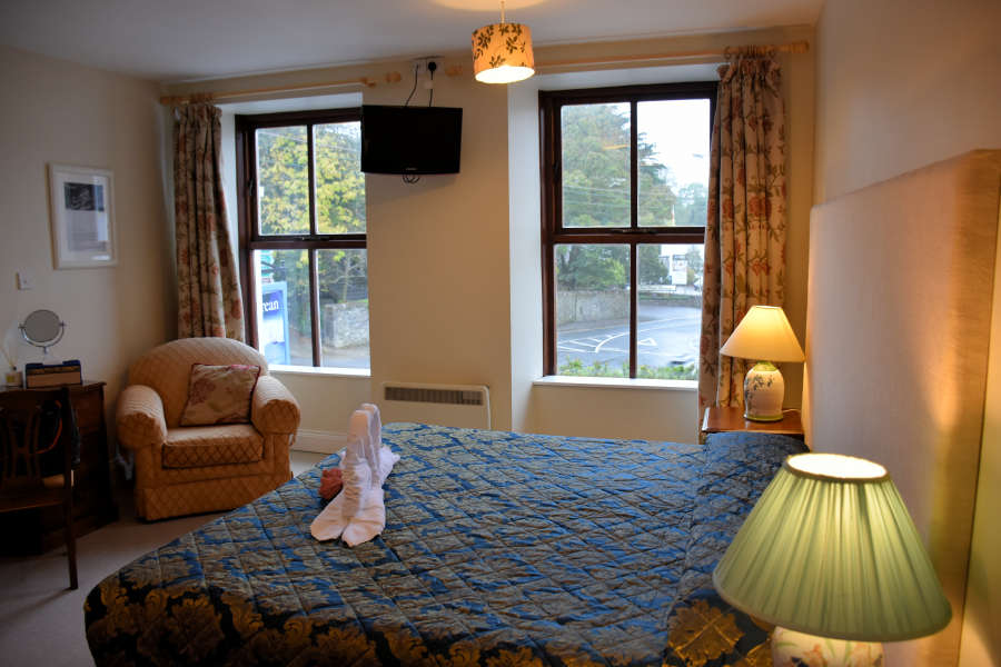 Guest room view at Tom Crean Fish & Wine & Accommodation in Kenmare, Ireland.