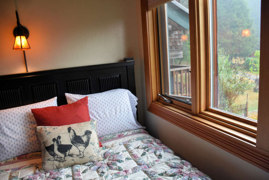 A bedroom at Lily of the Field B&B in Cottage Grove, Oregon.