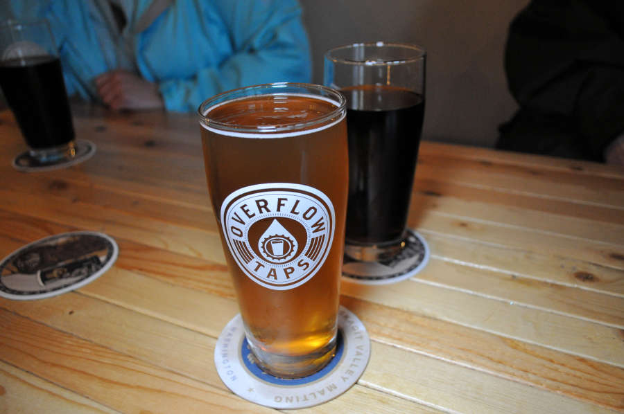 A beer from Overflow Taps in Lynden, Washington.
