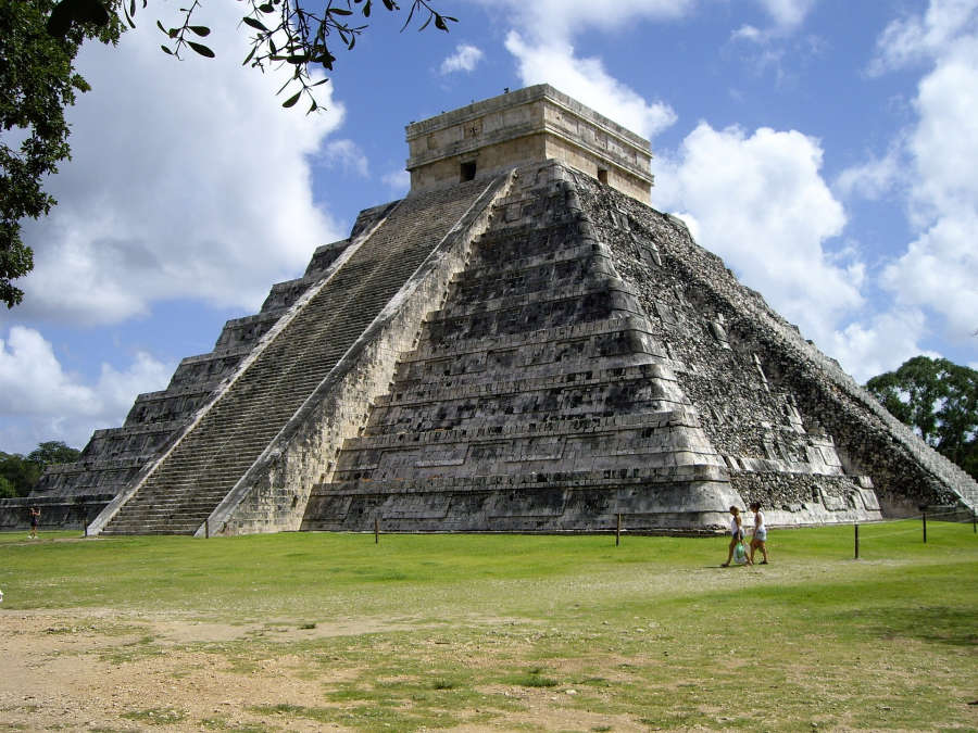 Traveling to Chichen Itza in Mexico.
