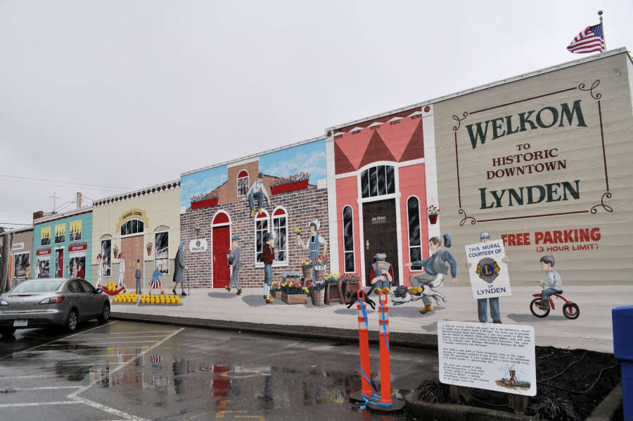 Mural in downtown Lynden, Washington.