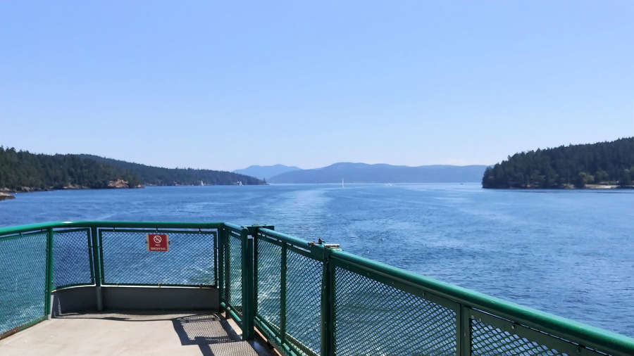 Ferry in the San Juan Islands.