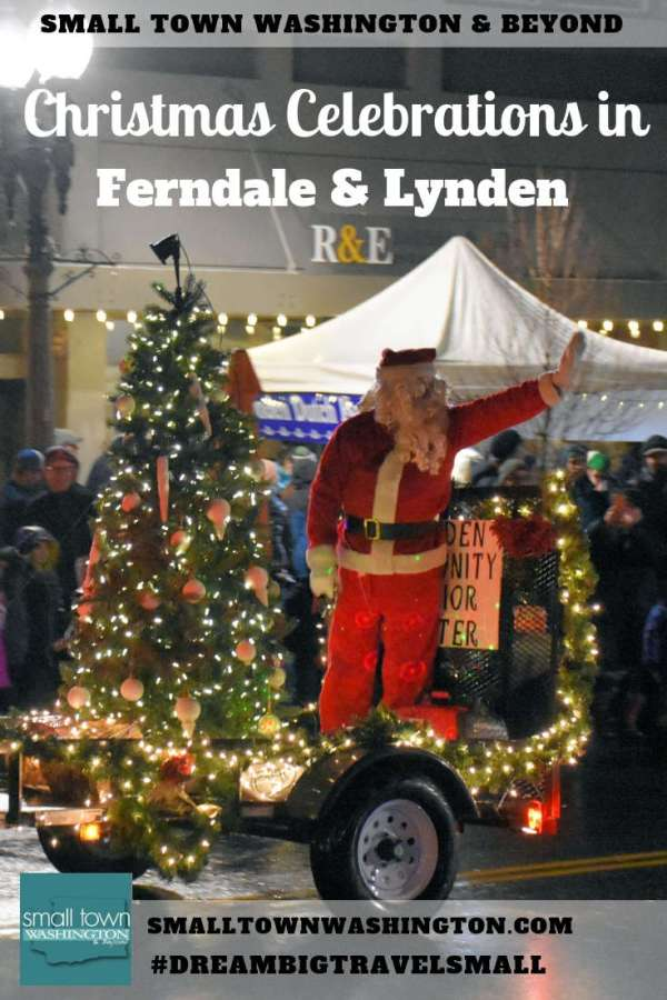 Lighted Christmas Parade in Lynden, Washington.