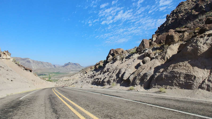 The scenic drive in Big Bend Ranch State Park.