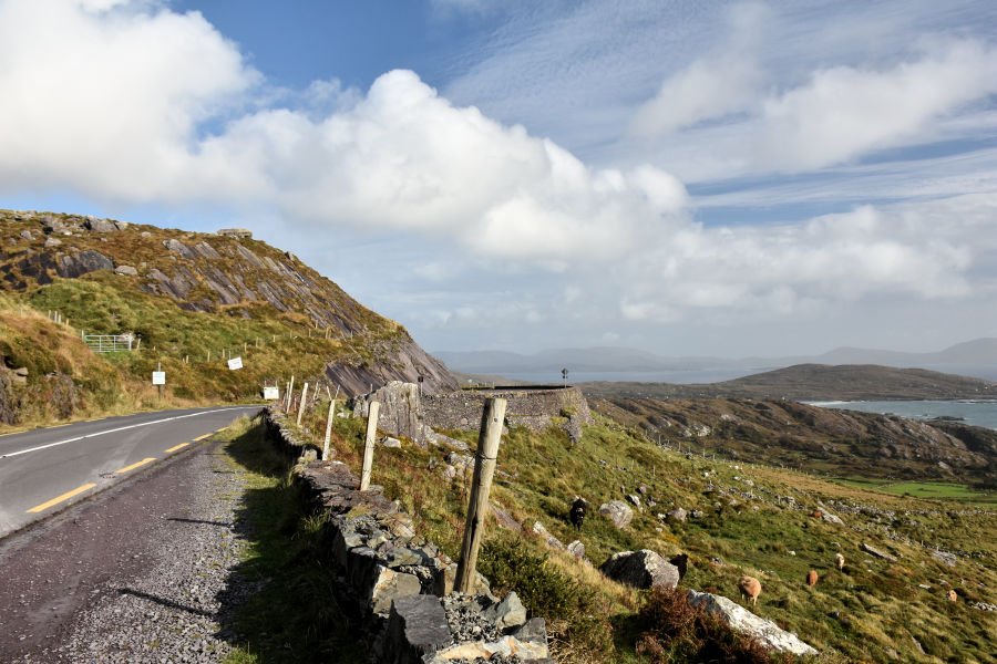Driving the Ring of Kerry in Ireland.