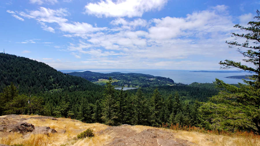 The view from Sugarloaf Mountain in Anacortes.