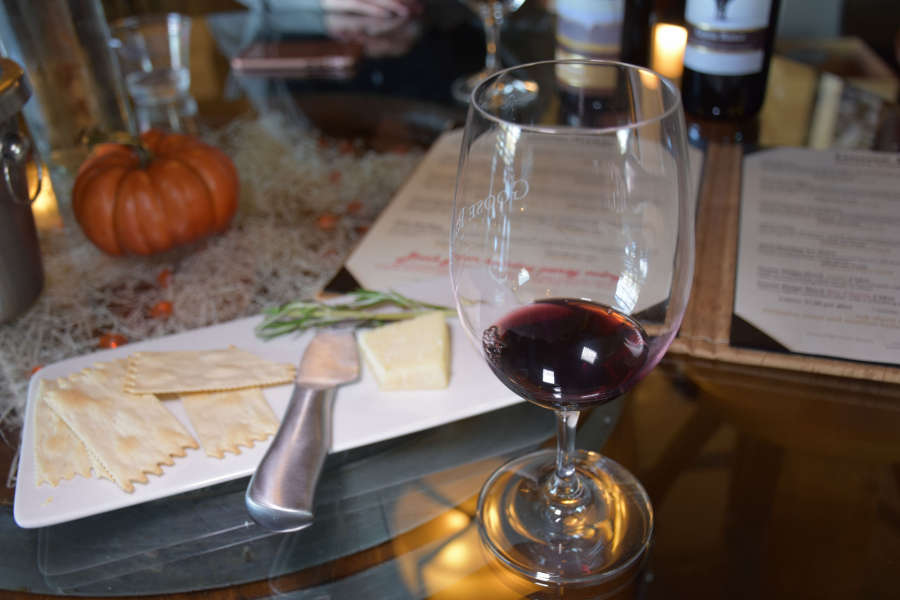 Wine tasting at Goose Ridge Winery