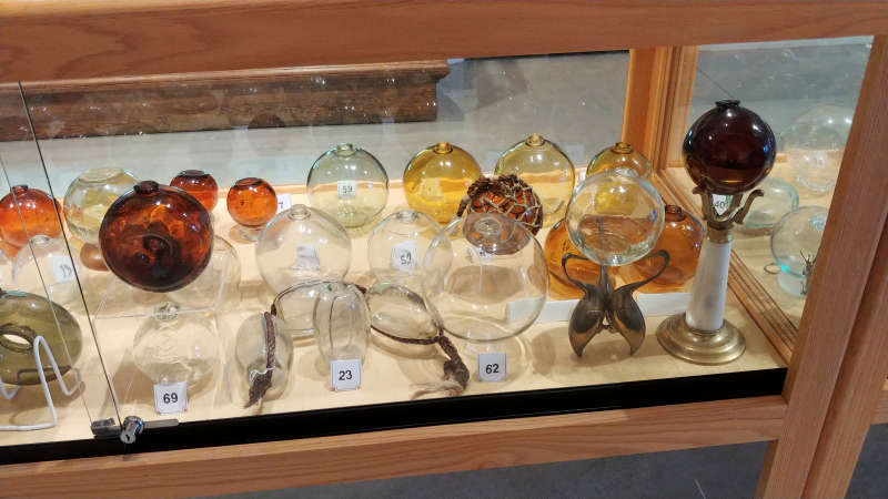 Japanese glass float collection at the North Lincoln County Historical Museum.