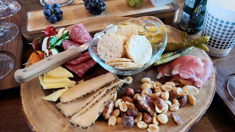 Cheese and meat board at Sawtooth Winery in Idaho.