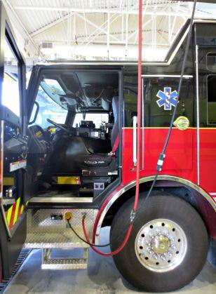 Inside an emergency services truck