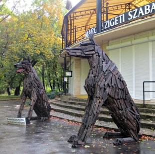 Budapest Margaret Island dogs