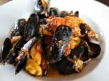 Halifax The Bicycle Thief Mussels sautéed with tomato, garlic, basil pesto, white wine
