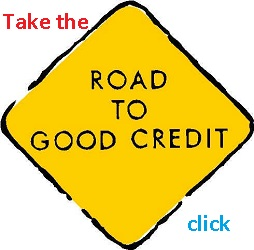 Road to Good Credit Sign