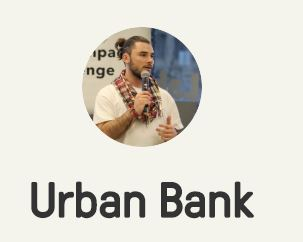 Root Root! for URBAN BANK the startup micro-lending donation service for the unhoused that is just getting started.