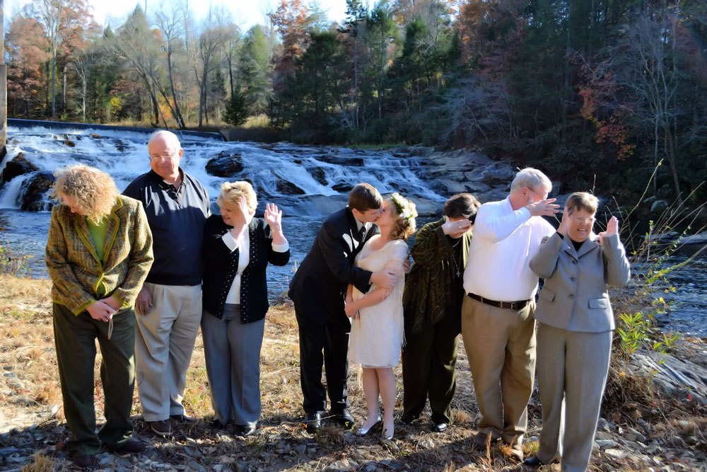 Family-Intimate Weddings at Waterfalls