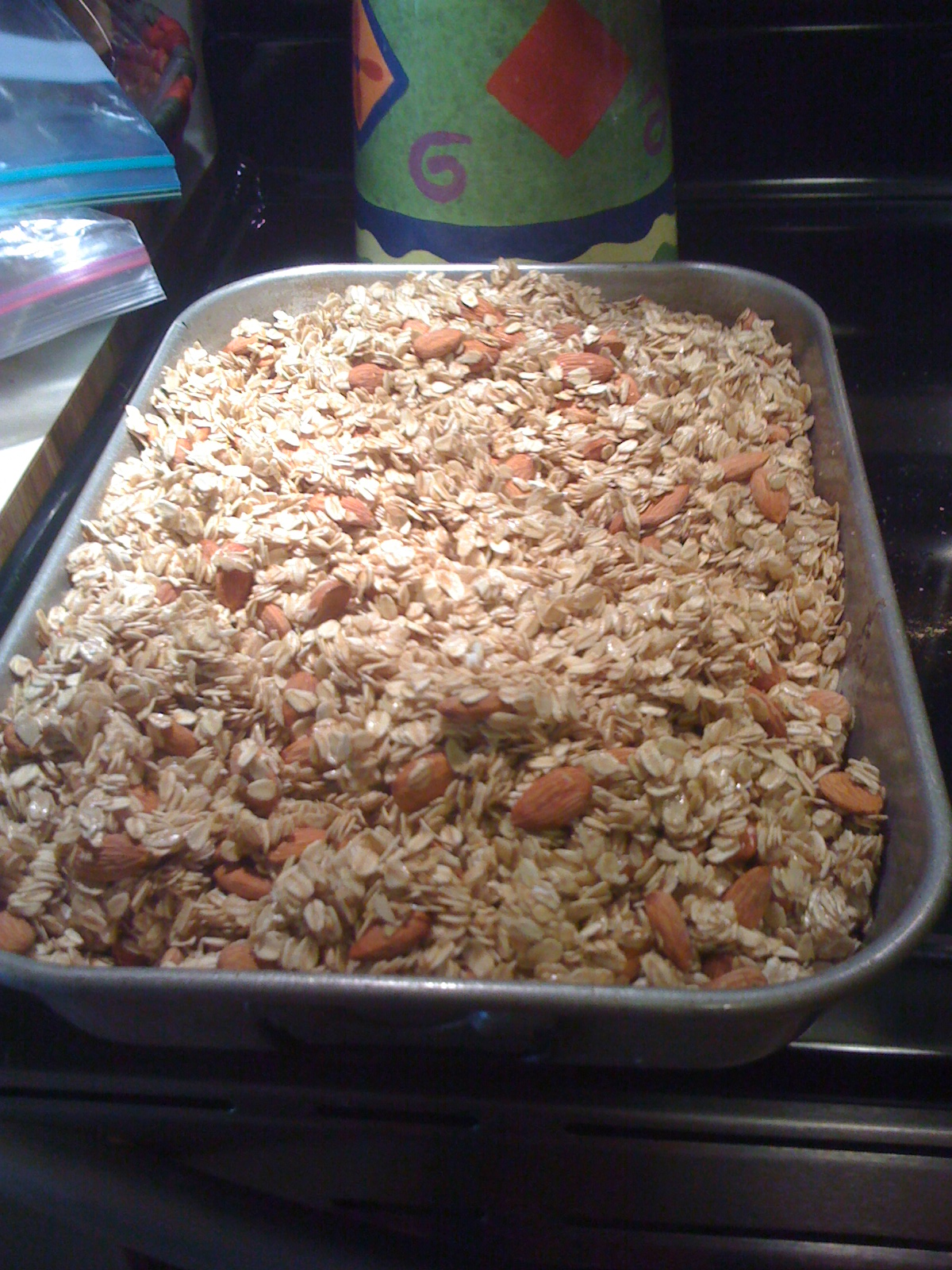 Granola--Ready for the oven