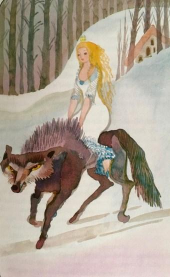 """Illustration: Brigitte Smith - from """"Märchen aus aller Welt - Schweden' Heyne Verlag"""