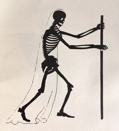 Plate V: This skeleton will also give a white spectre