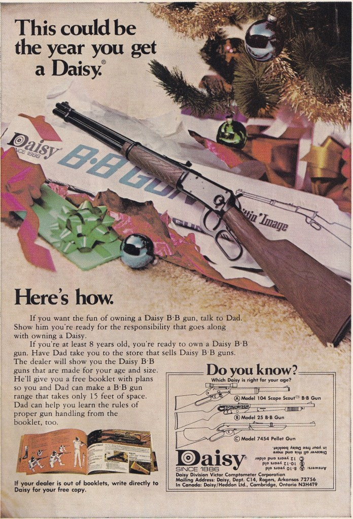 advert for Daisy Airgun from 1975
