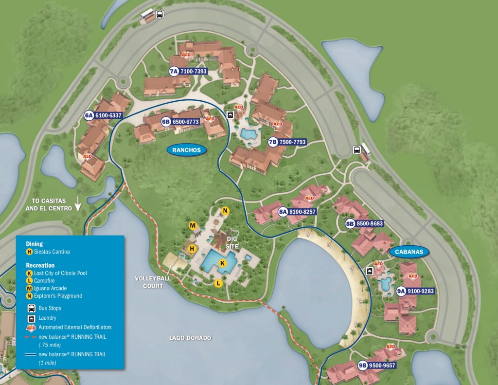 Disney's Coronado Springs Resort Map 2