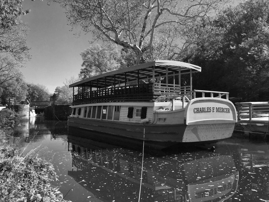Charles F Mercer canal boat on the C & O Canal in Potomac, Maryland