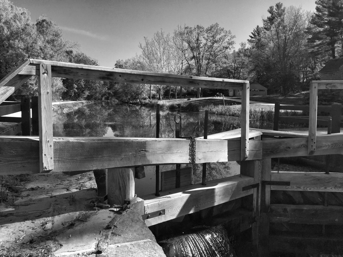 Looking thru the look gate on the C & O Canal in Potomac, Maryland