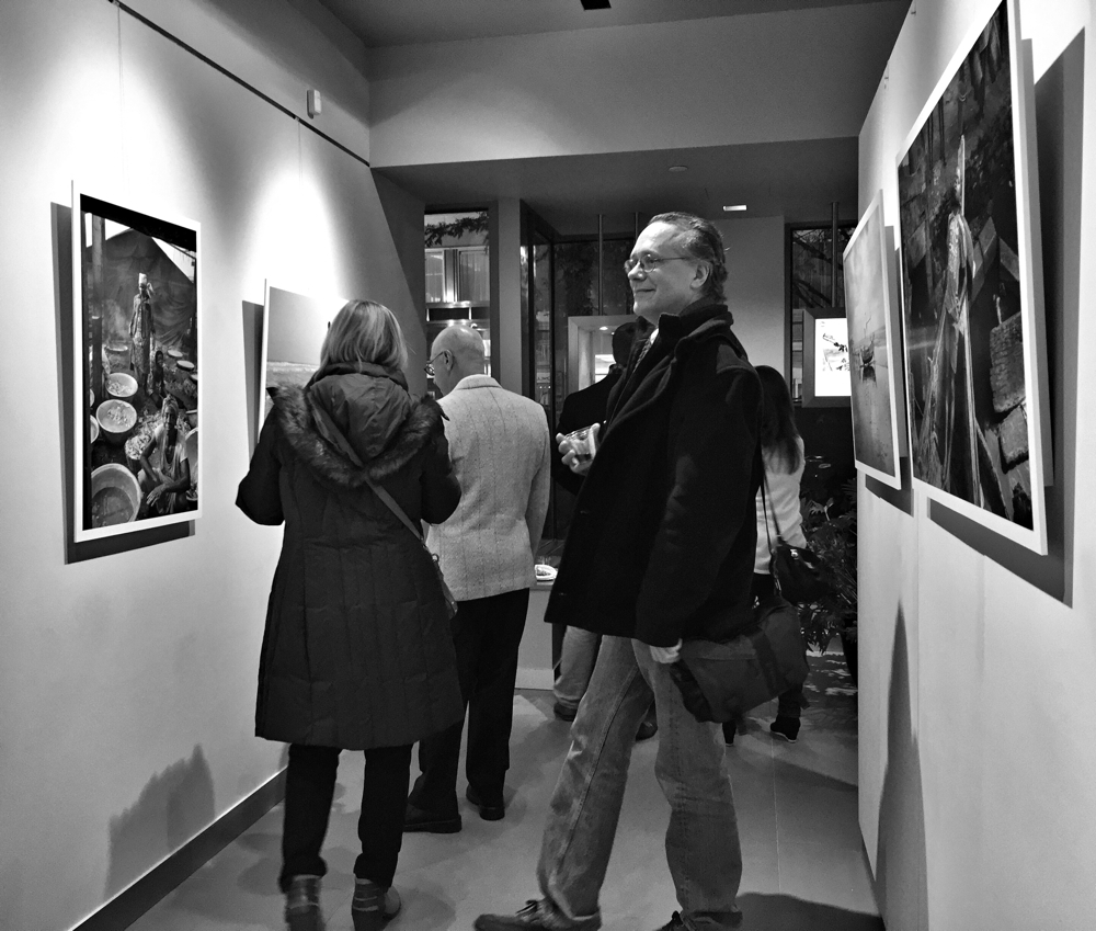 Opening Night of the Frank Hallam Day exhibit - Launching Into Night at the Leica Store in Washington DC