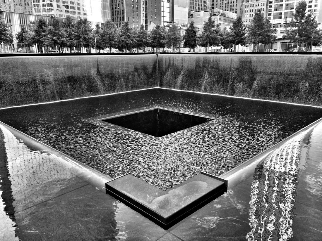 9/11 Memorial Pool at the World Trade Center in New York