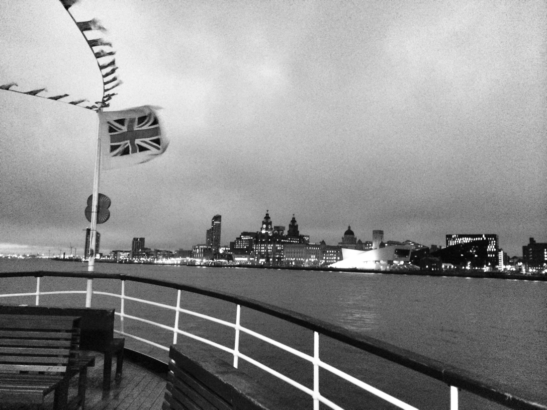 The Mersey Ferry heading back to the Pier Head in Liverpool, England