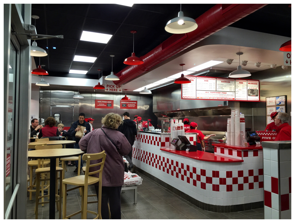 Five Guys in Kensington, Maryland is open for business