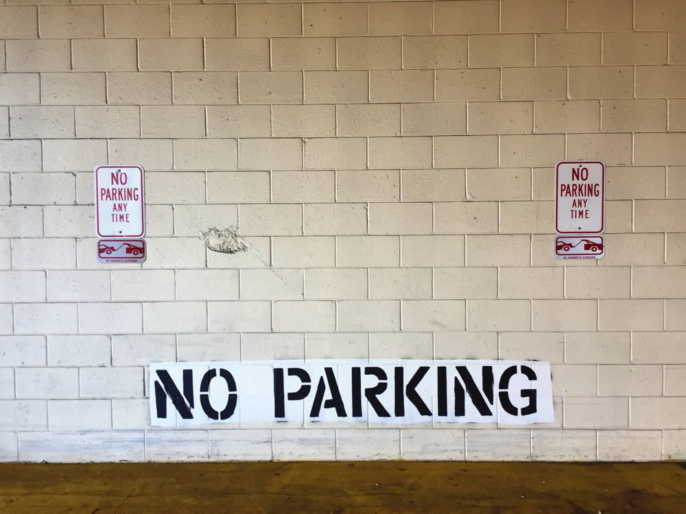 No parking signs at the safeway in kensington, Maryland