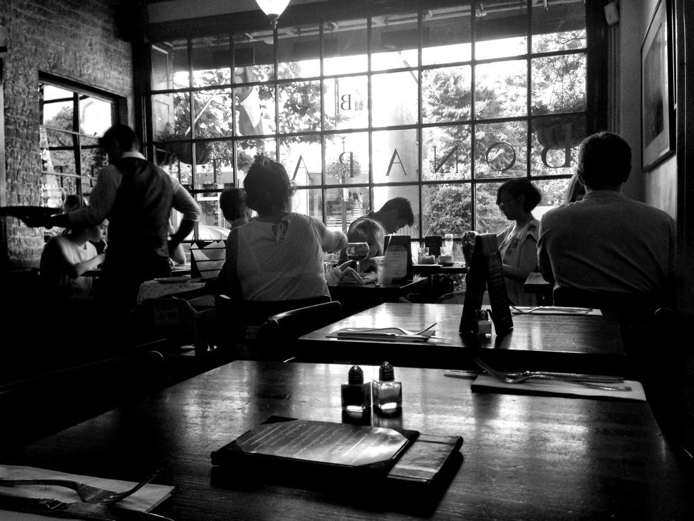 Diners inside Cafe Bonaparte in Georgetown, Washington DC