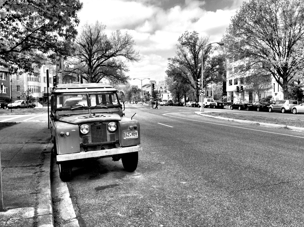 Urban LWB Land Rover on Maryland Ave, NE in Washngton DC