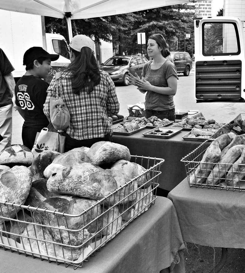 So many choices at the farmers market in Silver Spring, Maryland