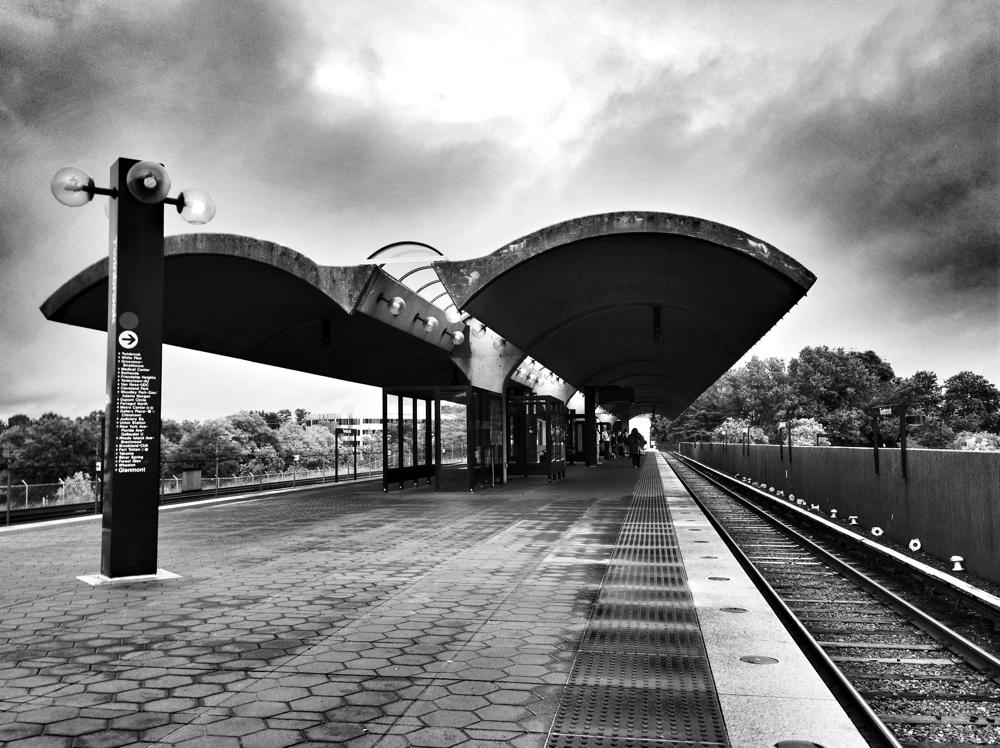 Twinbrook Metro station on the Washington DC Metro System