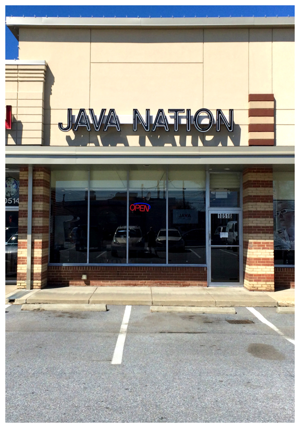 Java Nation coffee shop recently opened n Kensington, Maryland