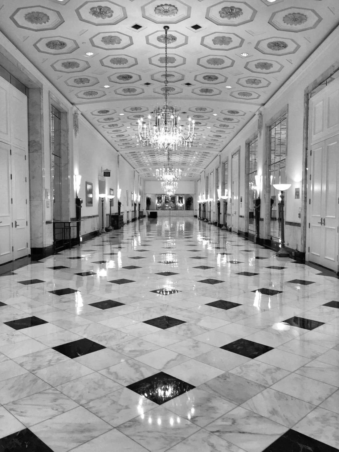 hallway in the mayflower hotel in washington dc