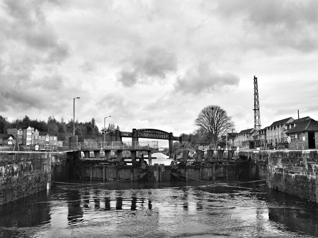 Lock gates on the Manchester ship canal