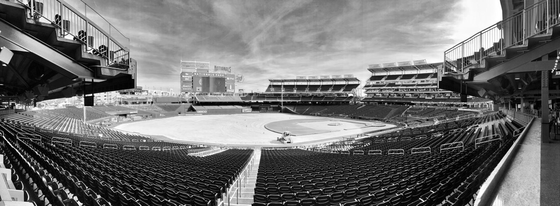 Nationals ballpark in Washington DC during the off season