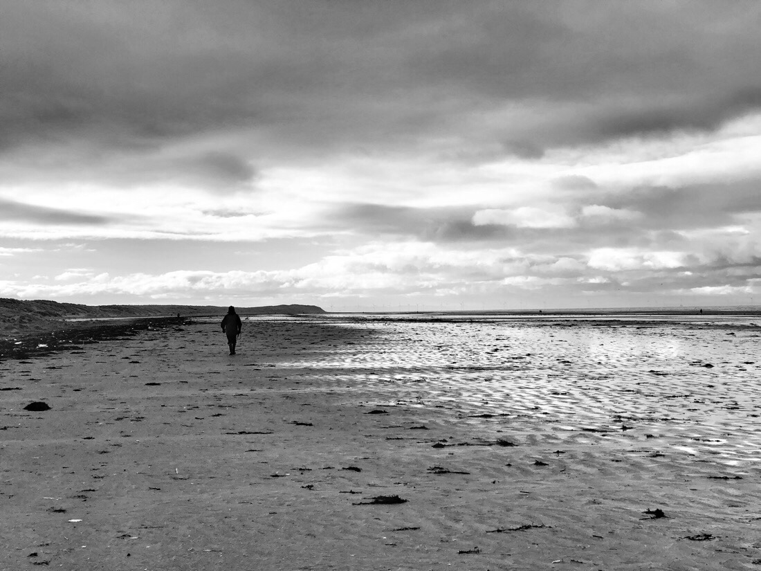 Walking on the beach at ainsdale