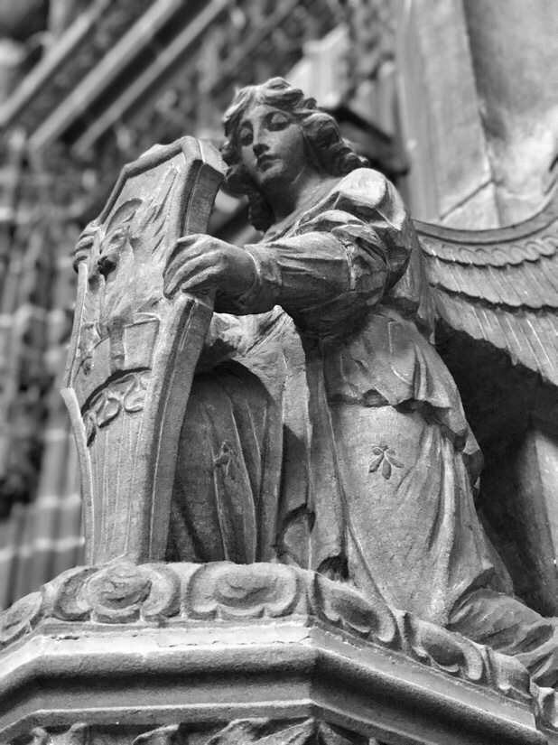 Stone figure in the Liverpool cathedral