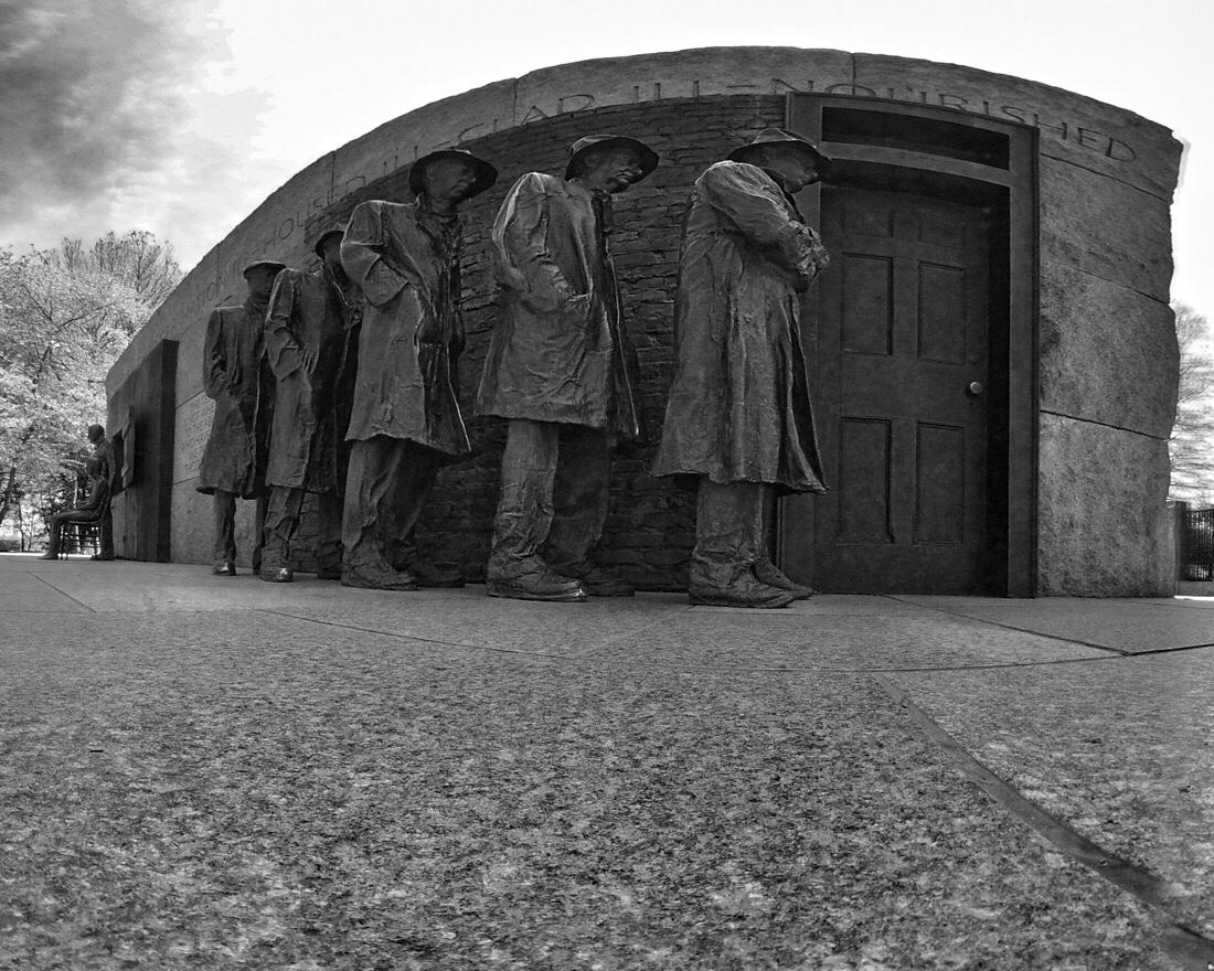 The Franklin Delano Roosevelt Memorial in Washington DC