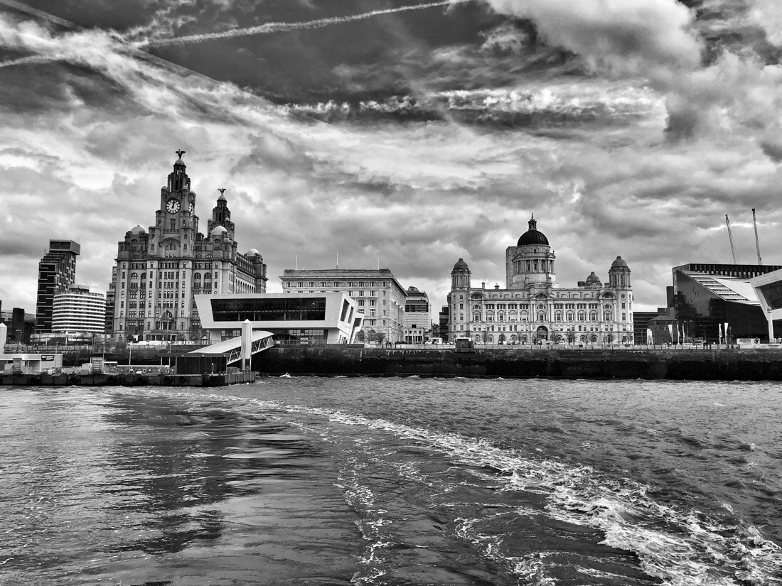 Mersey Ferry Snowdrop at the Pier Head in Liverpool.